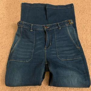 Zara Z1975 Denim Bootleg Jeans